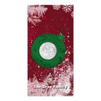 Copos de nieve de la tarjeta el   de la foto del