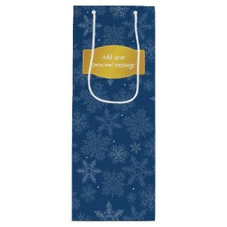 Copos de nieve del día de fiesta bolsa de regalo para vino