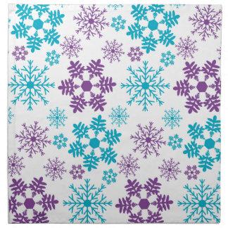 Copos de nieve del país de las maravillas del servilleta de tela