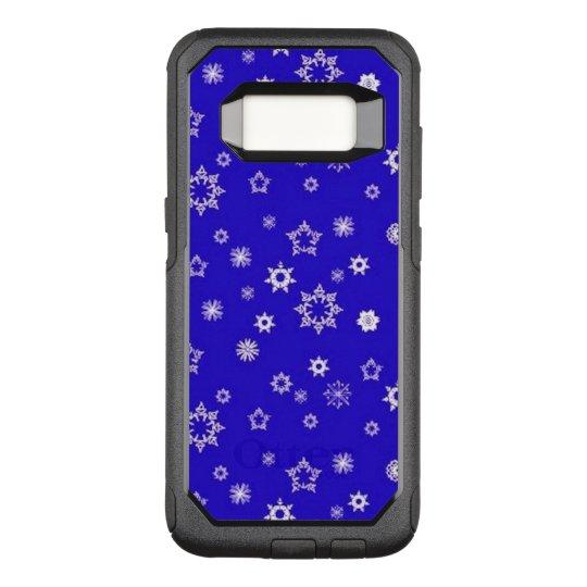 Copos de nieve en azul funda commuter de OtterBox para samsung galaxy s8
