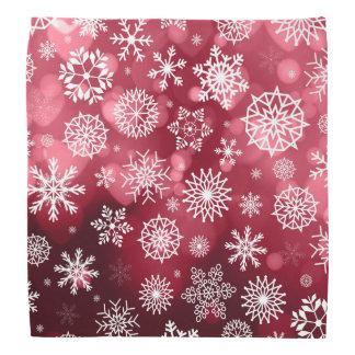 Copos de nieve en pañuelo del fondo un | de la