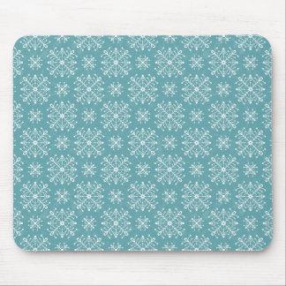 Copos de nieve estilizados alfombrilla de ratón