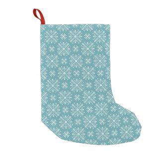 Copos de nieve estilizados calcetín de navidad pequeño