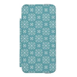 Copos de nieve estilizados funda cartera para iPhone 5 watson