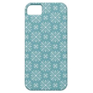 Copos de nieve estilizados iPhone 5 cobertura