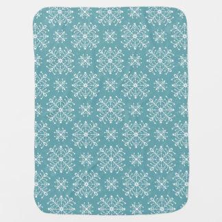 Copos de nieve estilizados mantitas para bebé