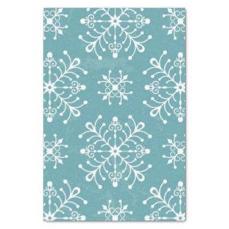 Copos de nieve estilizados papel de seda