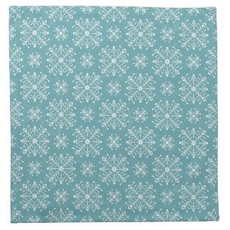 Copos de nieve estilizados servilleta imprimida