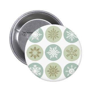copos de nieve modernos del vintage pin