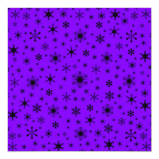 Copos de nieve - negro en violeta anuncio personalizado
