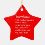 Copos de nieve ornamento para arbol de navidad