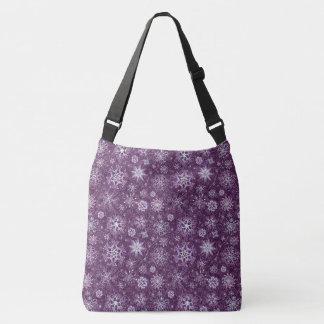 Copos de nieve púrpuras para el dolor crónico bolso cruzado