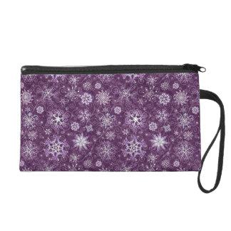 Copos de nieve púrpuras para el dolor crónico bolso de fiesta