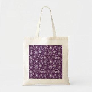 Copos de nieve púrpuras para el dolor crónico bolso de tela