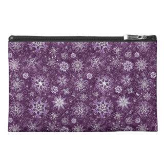 Copos de nieve púrpuras para el dolor crónico neceser de viaje