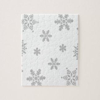 Copos de nieve que caen puzzle