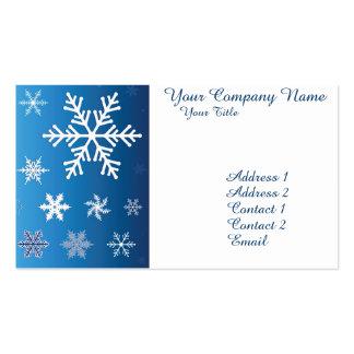 Copos de nieve que caen tarjetas de visita