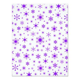 Copos de nieve - violeta en blanco invitaciones personales