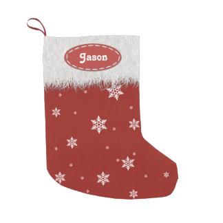 Copos de nieve y piel blanca - medias del navidad calcetín de navidad pequeño