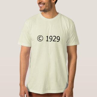 Copyright 1929 camiseta