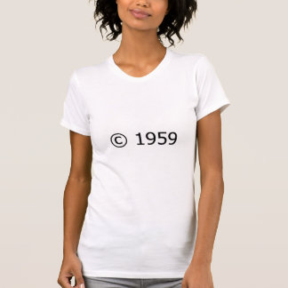 Copyright 1959 camisetas