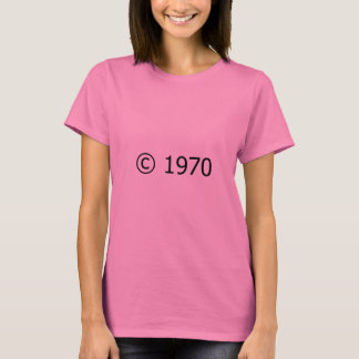 Copyright 1970 camiseta