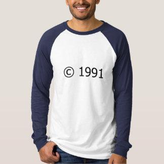 Copyright 1991 camiseta