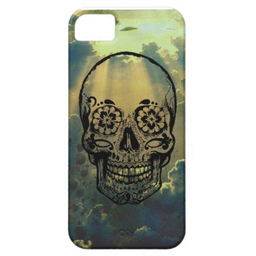 Coque iphone 4 sky & skull iPhone 5 Case-Mate protector