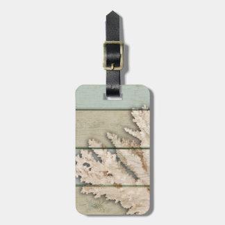 Coral color nata etiqueta para maletas