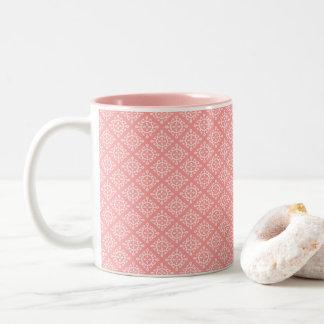 Coral de la taza de café de dos tonos/diseño