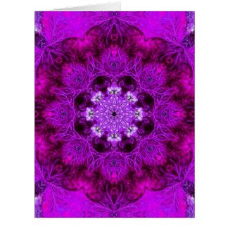 Coral magenta tarjeta de felicitación grande