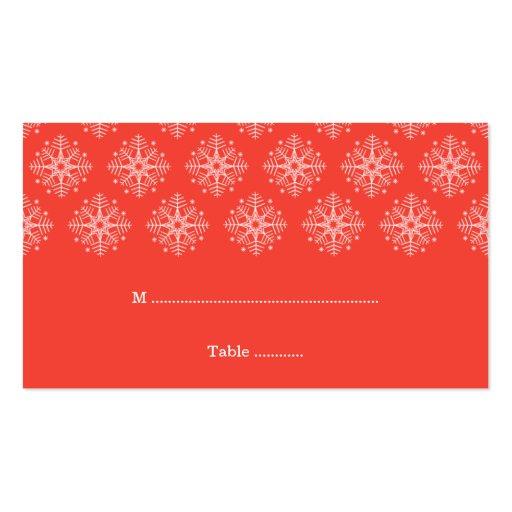 Coral + tarjeta blanca del lugar del boda del invi tarjeta de visita