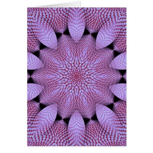 Coral violeta tarjetas