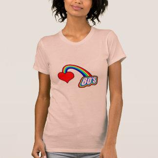 Corazón 80s camisetas