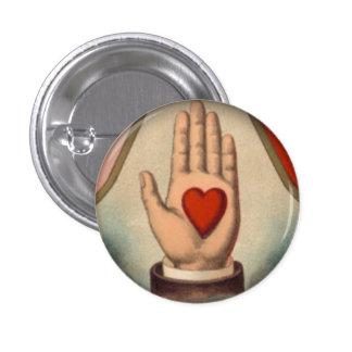 Corazón a disposición chapa redonda de 2,5 cm
