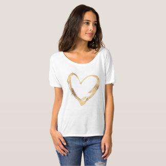 Corazón abierto del oro camiseta