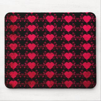 Corazón abstracto de Steampunk Alfombrilla De Ratón