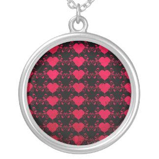 Corazón abstracto de Steampunk Collar Plateado