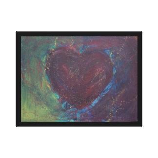 Corazón abstracto impresión en lienzo