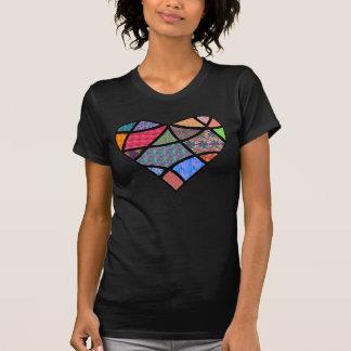 Corazón acolchado camisetas