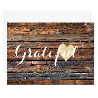 Corazón agradecido - tarjetas de nota