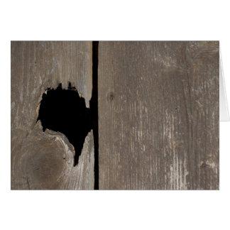 Corazón agrietado tarjeta pequeña