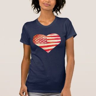 Corazón americano camiseta