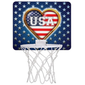 Corazón americano mini aro de baloncesto
