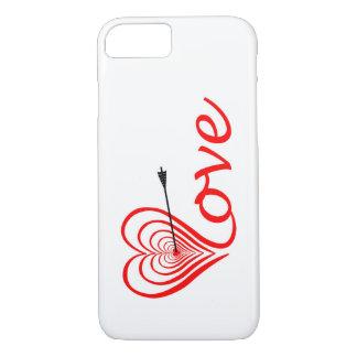 Corazón amor blanco con flecha funda para iPhone 8/7
