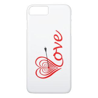 Corazón amor blanco con flecha funda para iPhone 8 plus/7 plus