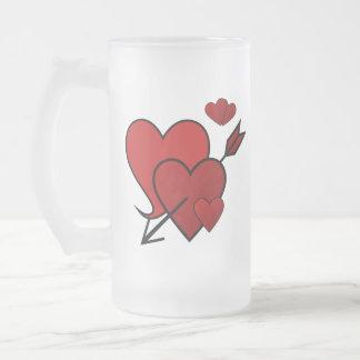 Corazón Amor-Pegado en una taza helada