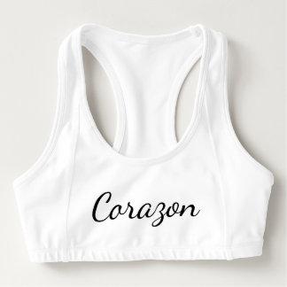 Corazon (amor) sujetador deportivo
