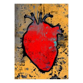 corazón anatómico tarjetas de visita grandes