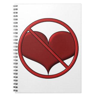 Corazón anti del el día de San Valentín: S.A.D. de Cuaderno